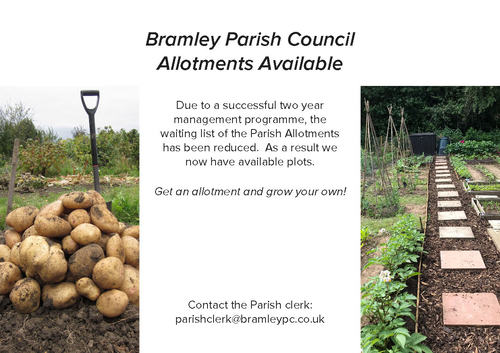 Allotments available in Bramley, Hampshire