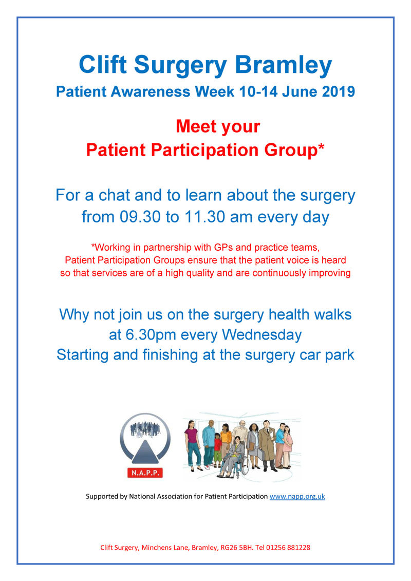 Patient Awareness Week 10-14 June 2019