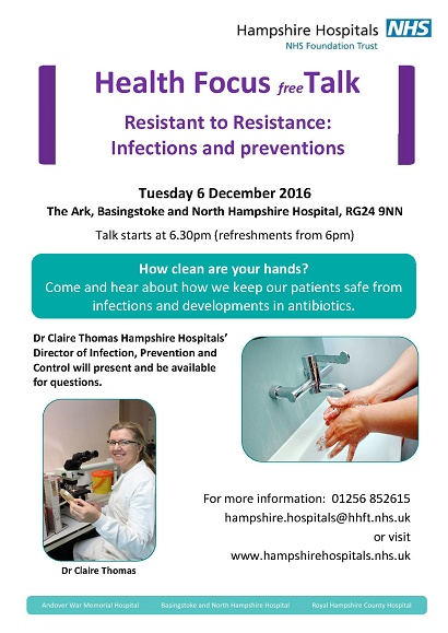 How clean are your hands? Come and hear about how we keep our patients safe from infections and developments in antibiotics.