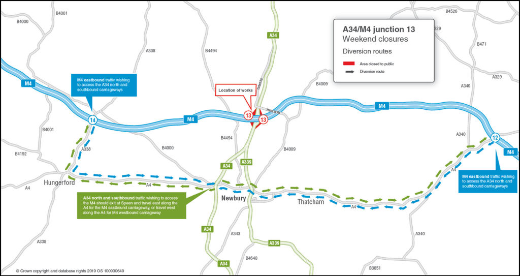 A34/M4 Junction 13 Chieveley (West Berkshire) – Surface Reconstruction